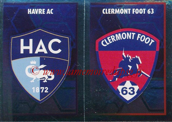 2017-18 - Panini Ligue 1 Stickers - N° 550 - Ecussons Clermont Foot + Le Havre AC