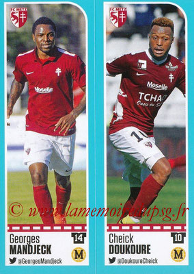 2016-17 - Panini Ligue 1 Stickers - N° 434 + 435 - Georges MANDJECK + Cheick DOUKOURE (Metz)