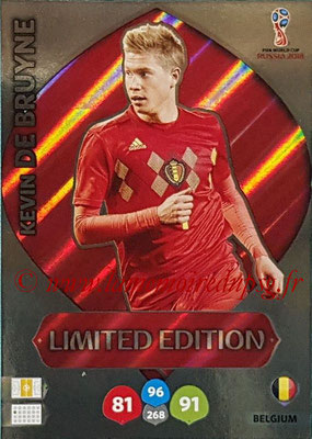 2018 - Panini FIFA World Cup Russia Adrenalyn XL - N° LE-KD - Kevin DE BRUYNE (Belgique) (Limited Edition)