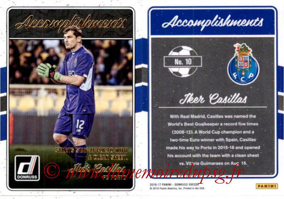 2016 - Panini Donruss Cards - N° A10 - Iker CASILLAS (FC Porto) (Accomplishments)