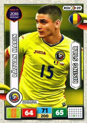 2018 - Panini Road to FIFA World Cup Russia Adrenalyn XL - N° ROU09 - Razvan MARIN (Roumanie) (Rising Star)