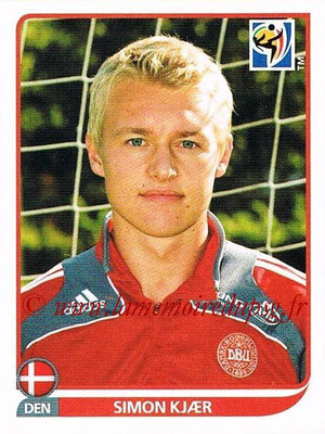 2010 - Panini FIFA World Cup South Africa Stickers - N° 358 - Simon KJAER (Danemark)