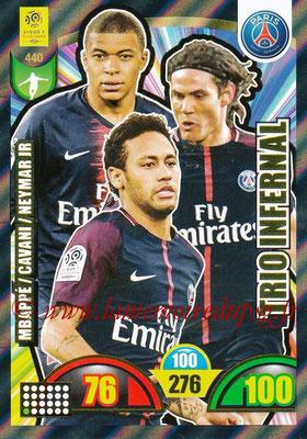 2018-19 - Panini Adrenalyn XL Ligue 1 - N° 440 - Kylian MBAPPE + Edinson CAVANI + NEYMAR Jr. (Paris Saint-Germain) (Trio Infernal)