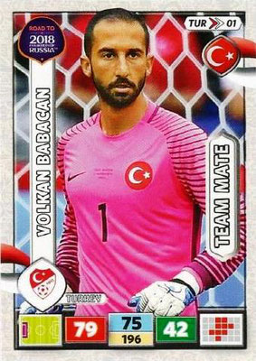 2018 - Panini Road to FIFA World Cup Russia Adrenalyn XL - N° TUR01 - Volkan BABACAN (Turquie)