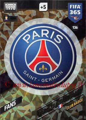 2017-18 - Panini FIFA 365 Cards - N° 136 - Logo Paris Saint-Germain (Club Badge)
