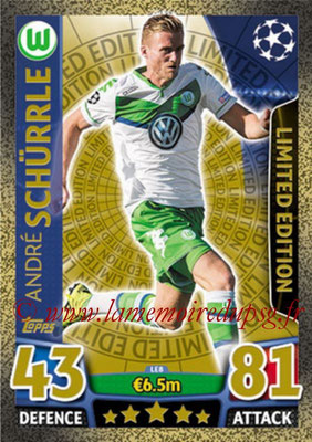 2015-16 - Topps UEFA Champions League Match Attax - N° LE8 - André SCHÜRRLE (VFL Wolfsburg) (Limited Edition Gold)