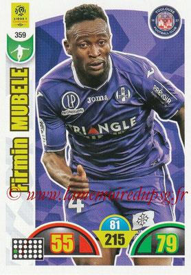 2018-19 - Panini Adrenalyn XL Ligue 1 - N° 359 - Firmin NDOMBLE MUBELE (Toulouse)