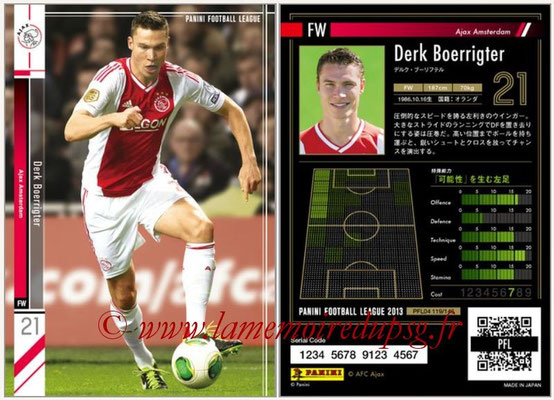 Panini Football League 2013 - PFL04 - N° 119 - Derk BOERRIGTER (Ajax Amsterdam)