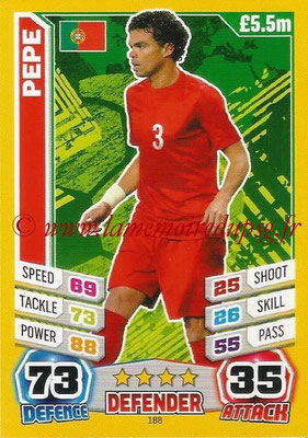 Topps Match Attax England 2014 - N° 188 - PEPE (Portugal)