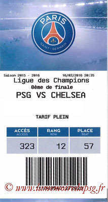 Tickets  PSG-Chelsea  2015-16