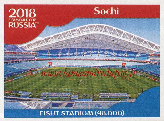 2018 - Panini FIFA World Cup Russia Stickers - N° 018 - Fisht Stadium, Sochi (Stades et Villes)