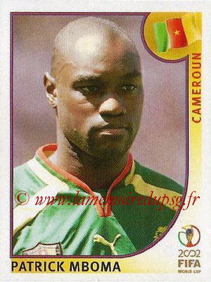 2002 - Panini FIFA World Cup Stickers - N° 382 - Patrick MBOMA (Cameroun)