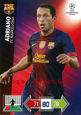 2012-13 - Adrenalyn XL champions League N° 031 - ADRIANO (FC Barcelone