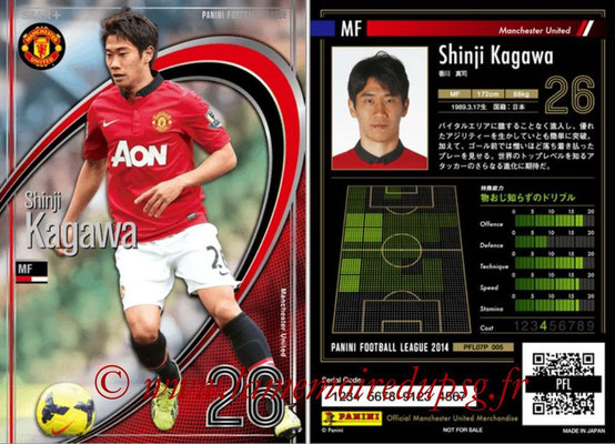 Panini Football League 2014 - PFL07P - N° 005 - Shinji KAGAWA (Manchester United) (Star +)