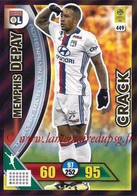 2017-18 - Panini Adrenalyn XL Ligue 1 - N° 449 - Memphis DEPAY (Lyon) (Crack)