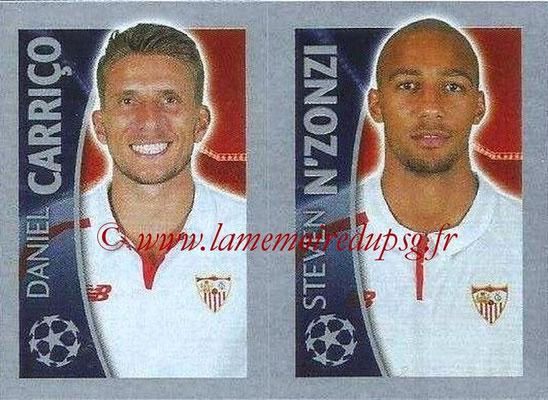 2015-16 - Topps UEFA Champions League Stickers - N° 276 - Daniel CARRICO + Steven N'ZONZI (FC Seville)