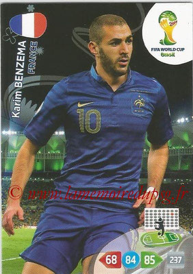 2014 - Panini FIFA World Cup Brazil Adrenalyn XL - N° 168 - Karim BENZEMA (France)