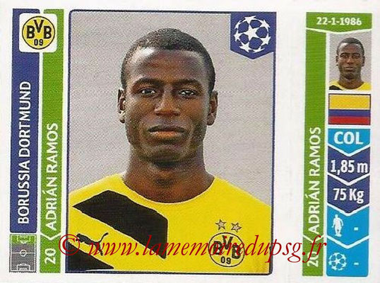 2014-15 - Panini Champions League N° 288 - Adrian RAMOS (Borussia Dortmund)