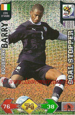 2010 - Panini FIFA World Cup South Africa Adrenalyn XL - N° 074 - Boubacar BARRY (Côte d'Ivoire) (Goal Stopper)