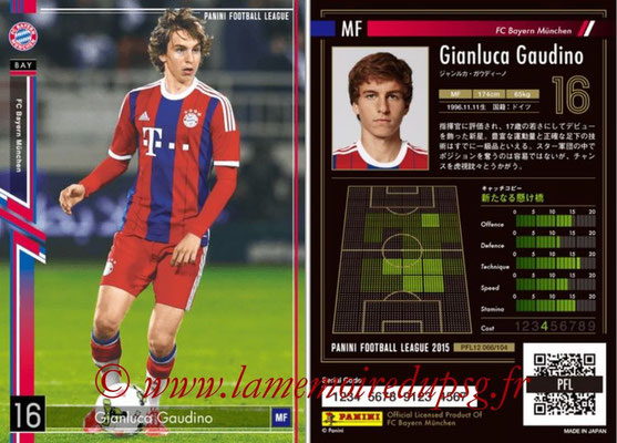 Panini Football League 2015 - PFL12 - N° 066 - Gianluca GAUDINO (Bayern Munich)