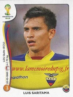 2014 - Panini FIFA World Cup Brazil Stickers - N° 365 - Luis SARITAMA (Equateur)
