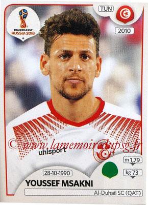 2018 - Panini FIFA World Cup Russia Stickers - N° 566 - Youssef MSAKNI (Tunisie)