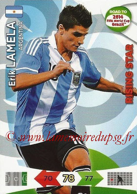 2014 - Panini Road to FIFA World Cup Brazil Adrenalyn XL - N° 011 - Erik LAMELA (Argentine) (Rising Star)