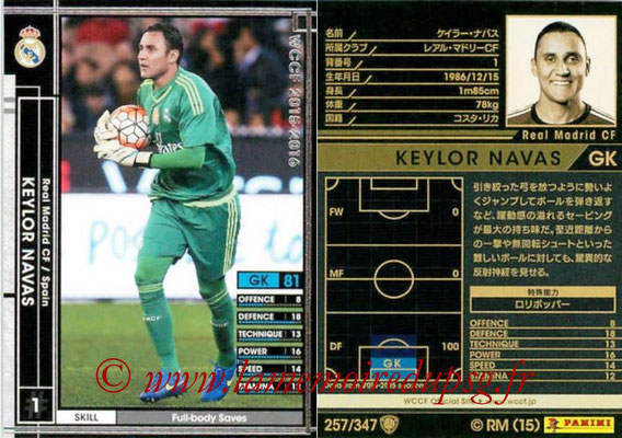 2015-16 - Panini WCCF - N° 257 - Keylor NAVAS (Real Madrid CF)