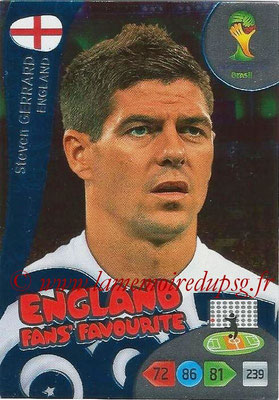 2014 - Panini FIFA World Cup Brazil Adrenalyn XL - N° 336 - Steven GERRARD (Angleterre) (Fan's favorite)