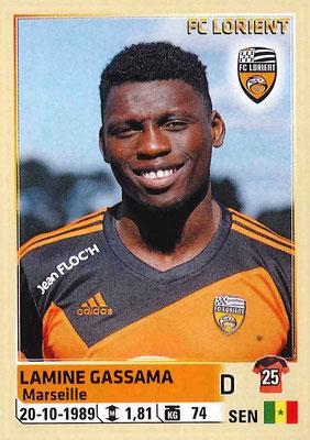 2014-15 - Panini Ligue 1 Stickers - N° 175 - Lamine GASSAMA (FC Lorient)