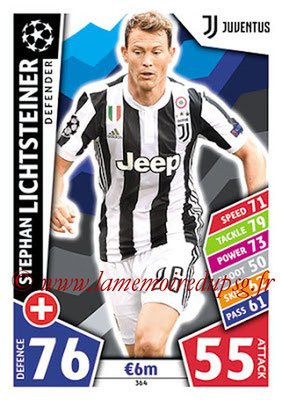 2017-18 - Topps UEFA Champions League Match Attax - N° 364 - Stephan LICHTSTEINER (Juventus)