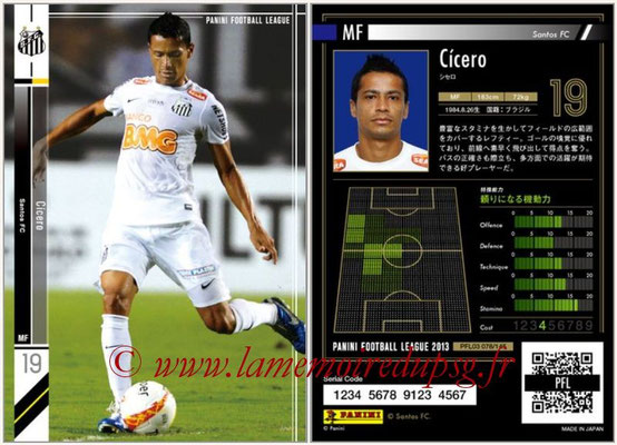 Panini Football League 2013 - PFL03 - N° 078 - Cicero (FC Santos)
