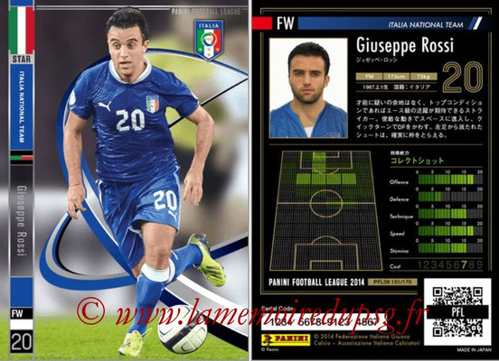 Panini Football League 2014 - PFL08 - N° 151 - Giuseppe ROSSI (Italie) (Star)