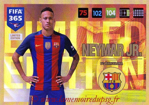 2016-17 - Panini Adrenalyn XL FIFA 365 - N° LE10 - NEYMAR Jr. (FC Barcelone) (Limited Edition)