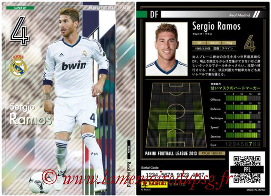 Panini Football League 2013 - PFL01 - N° 180 - Sergio Ramos ( Real Madrid ) (Super DF)
