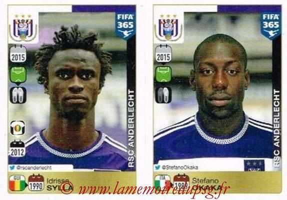 2015-16 - Panini FIFA 365 Stickers - N° 159-160 - Idriss SYLLA + Stefano OKAKA (RSC Anderlecht)