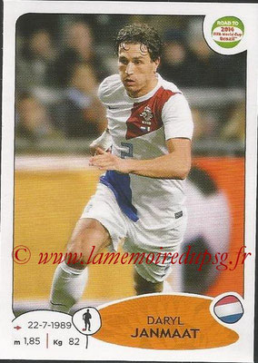 2014 - Panini Road to FIFA World Cup Brazil Stickers - N° 301 - Daryl JANMAAT (Pays-Bas)
