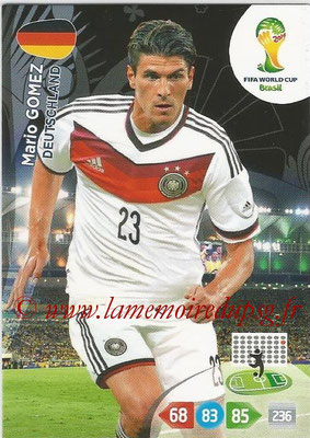 2014 - Panini FIFA World Cup Brazil Adrenalyn XL - N° 117 - Mario GOMEZ (Allemagne)