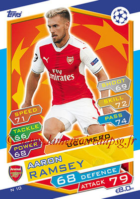 2016-17 - Topps UEFA Champions League Match Attax - N° N10 - Aaron RAMSEY (Arsenal FC) (UCL Hero) (Nordic Edition)