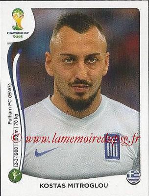2014 - Panini FIFA World Cup Brazil Stickers - N° 221 - Kostas MITROGLOU (Grèce)