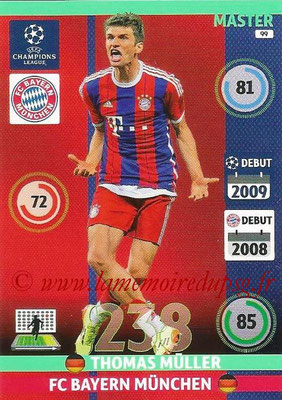 2014-15 - Adrenalyn XL champions League N° 099 - Thomas MULLER (Bayern Munich) (Master)