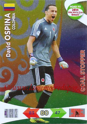 2014 - Panini Road to FIFA World Cup Brazil Adrenalyn XL - N° 208 - David OSPINA (Colombie) (Goal Stopper)