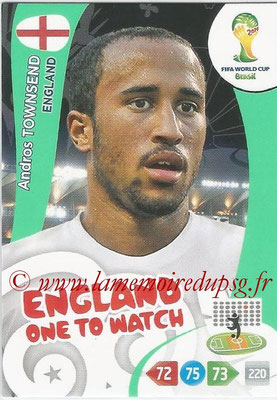2014 - Panini FIFA World Cup Brazil Adrenalyn XL - N° 137 - Andros TOWNSEND (Angleterre)