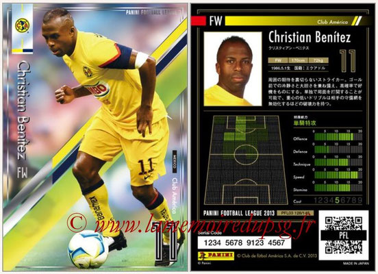 Panini Football League 2013 - PFL03 - N° 128 - Christian Benitez (Club America)