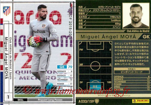 2015-16 - Panini WCCF - N° A033 - Miguel Angel MOYA (Club Atletico de Madrid)