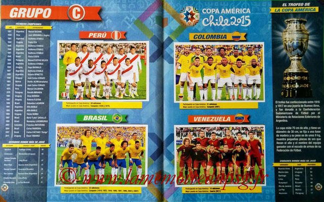Navarette Copa America Chile 2015 Stickers - Pages 24 et 25 - Groupe C