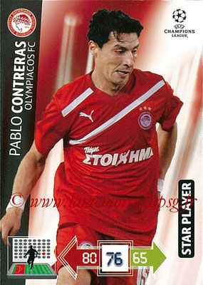 2012-13 - Adrenalyn XL champions League N° 188 - Pablo CONTRERAS (Olympiacos FC) (Star Player)