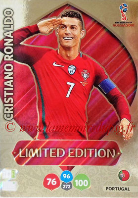 2018 - Panini FIFA World Cup Russia Adrenalyn XL - N° LE-CR - Cristiano RONALDO (Portugal) (Limited Edition)