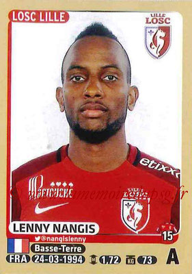 2015-16 - Panini Ligue 1 Stickers - N° 165 - Lenny NANGIS (Lille OSC)