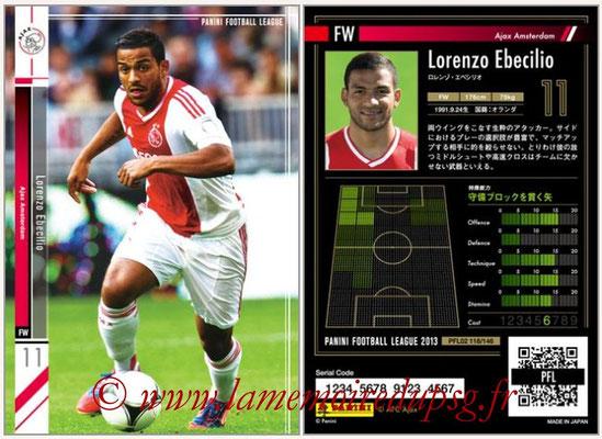 Panini Football League 2013 - PFL02 - N° 118 - Lorenzo Ebecilio ( Ajax Amsterdam )
